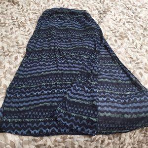 Blue Boho Patterned Hollister Long Skirt Medium